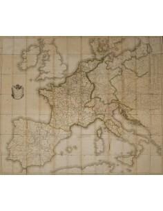 Bibliografía. 1812. Mapa de las Rutas Postales del Imperio Francés, el Reino de Italia y de la Confederación del Rhin. París,
