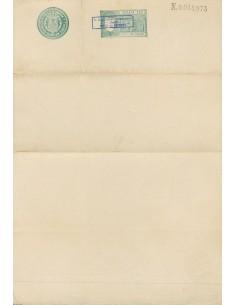 Filipinas. (*). (1900ca). 10 ctvos verde PAPEL SELLADO (sin inutilizar), habilitación U.S. MILITARY GOVERNMENT / 1900 / INTERN