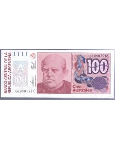 Argentina. Billete de 100 australes