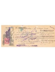 1932. Letra de cambio de Montijo con timbre habilitado República Española