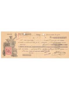 1931. Letra de cambio de Badajoz con timbre Clase 8 habilitado República Española + Especial movil 30 cts