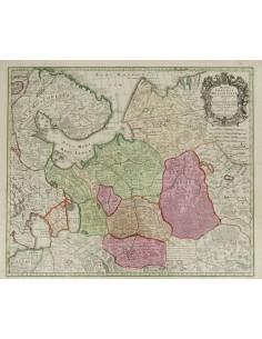Rusia, Bibliografía. 1740. MAPPAE IMPERII MOSCOVITICI PARS SEPTENTRIONALIS. Guillermo de L´Isle y Matthias Seutter. París, 174