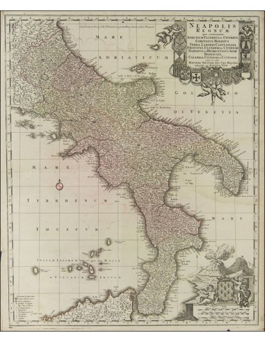 Nápoles, Bibliografía. 1725. NEAPOLIS REGNUM QUO CONTINENTUR APRUTIUM ULTERIUS ET CITERIUS COMITATUS MOLISIUS TERRA LABORIS CA