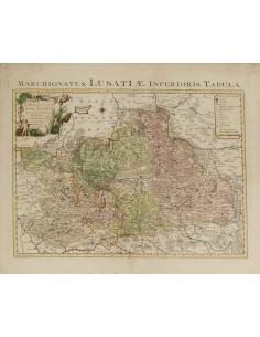 Alemania, Bibliografía. 1759. LE MARQUISAT DE BASSE LVSACE. Covens et Mortier. Amsterdam, 1759. MAGNIFICO E INUSUAL MAPA, IDEA