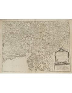 Austria, Bibliografía. 1752. PARTIE MERIDIONALE DU CERCLE D´AUTRICHE. Robert de Vaugondy. París, 1752 (correspondiente al Duca