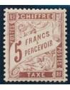 Francia, Tasas. *Yv 27. 1884. 5 f castaño. Excelente centraje. MAGNIFICO. Yvert 2019: 800 Euros.