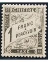 Francia, Tasas. *Yv 22. 1882. 1 f negro. Excelente centraje. MAGNIFICO Y RARO. Yvert 2019: 1.450 Euros.