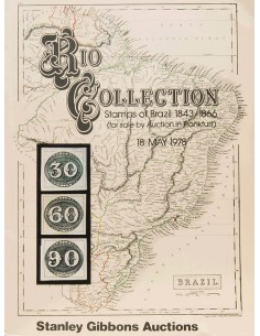 Brasil, Bibliografía. 1978. RIO COLLECTION STAMPS OF BRAZIL 1843-1866. Stanley Gibbons Auctions. Frankfurt, 18 de Mayo de 1978