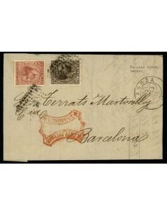 OL00389. 1879, 15 de enero. Zaragoza a Barcelona
