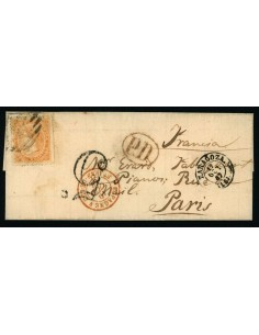 OL00548. Envuelta. 1867, 17 de octubre. Zaragoza a Paris
