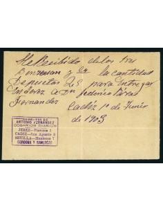 OL00641. Recibo. 1903, 1 de junio. Cosario Sobrinos de Antonio Fernandez