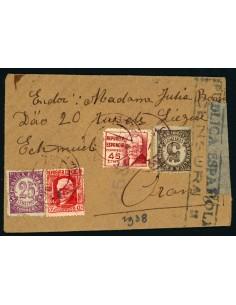 OL00671. Carta de doble uso. República española. ALmeria a Oran