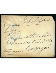 OL00673. Frontal. Franquicia postal dirigida a Filipinas