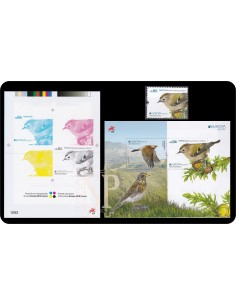 Portugal EUROPA 2019 Açores Pájaros birds oiseaux prova cor épreuve couleur color proof 1093 Goldcrest Regulus regulus -