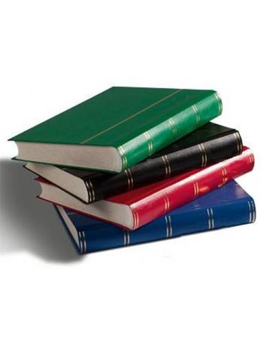 Clasificador sellos 60 páginas, hojas blancas, tapa negra *LuzDeFaro