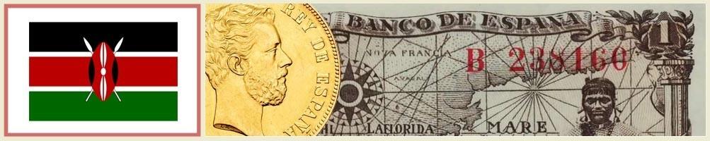 Numismatics of Kenya - numismaticayfilatelia