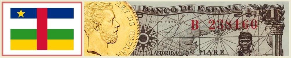 Numismatics of Central African Republic - numismaticayfilatelia.com