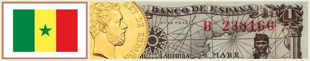 Numismatics of Senegal - numismaticayfilatelia.com