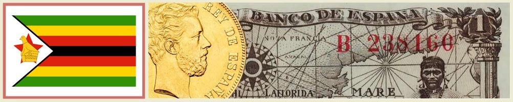 Zimbabwean numismatics - numismaticayfilatelia.com