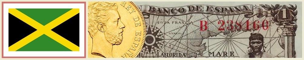 Jamaican numismatics - numismaticayfilatelia.com