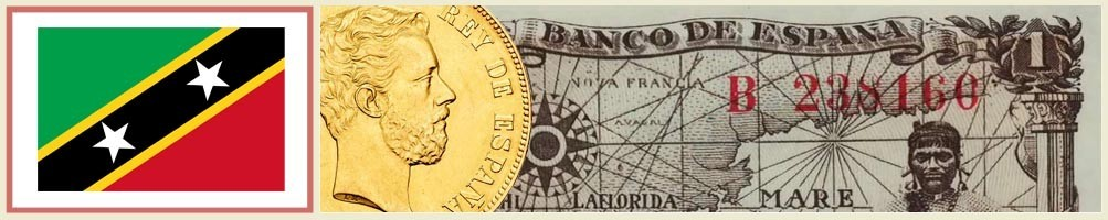 Numismatics of St. Christopher and Snow - numismaticayfilatelia.com