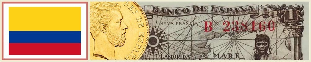 Numismatics of Colombia - numismaticayfilatelia.com