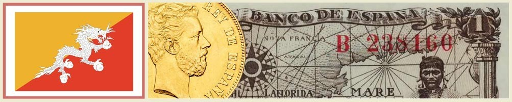 Butan numismatics - numismaticayfilatelia.com