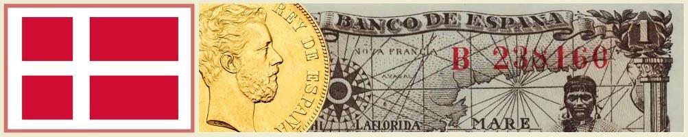 Numismatics of Denmark - numismaticayfilatelia.com