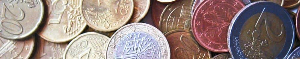 Lots of coins and bills - numismaticayfilatelia.com