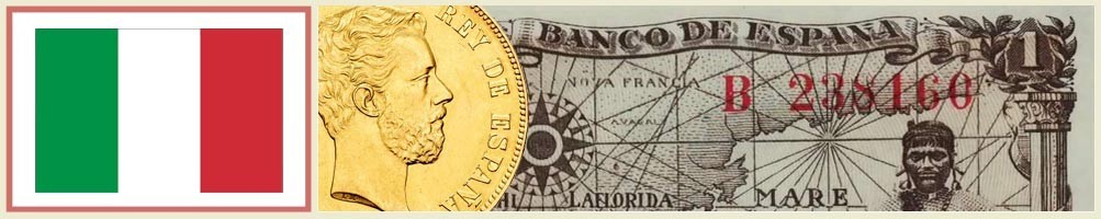 Numismatics of Italy - numismaticayfilatelia.com