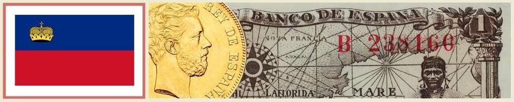 Numismatics of Liechtenstein - numismaticayfilatelia.com