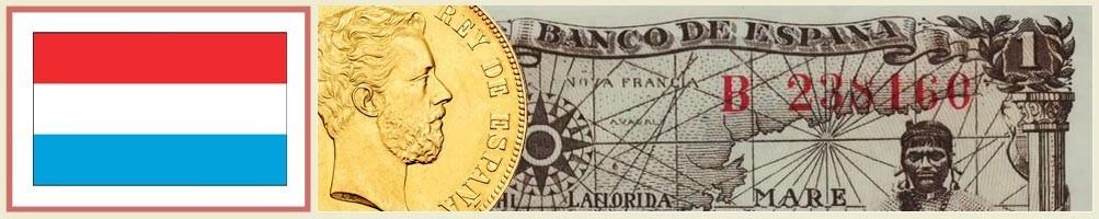Numismatics of Luxembourg - numismaticayfilatelia.com