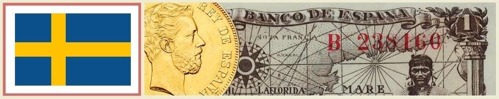 Numismatics of Sweden - numismaticayfilatelia.com