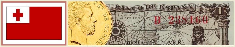 Tongan numismatics - numismaticayfilatelia.com