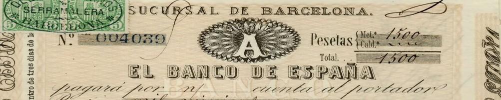 Invoices, Bills of Exchange and Checks - numismaticayfilatelia.com