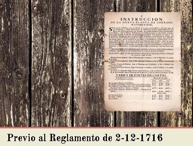 TARIFAS PREVIAS AL REGLAMENTO DE 2 DE DICIEMBRE DE 1716