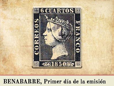 BENABARRE, PRIMER DIA DE LA EMISIÓN POSTAL DE 1 DE ENERO DE 1850