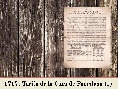 TARIFA DE 1717 EN EL OFICIO DE CORREO DE PAMPLONA