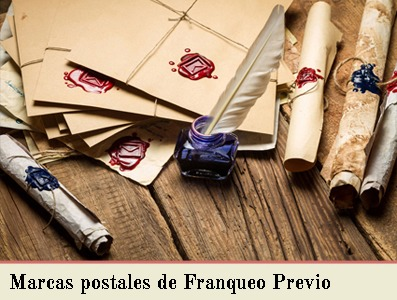 MARCAS POSTALES DE CORREO DE FRANQUEO PREVIO