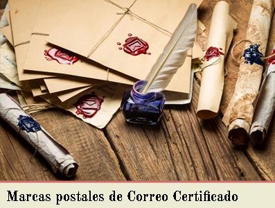 MARCAS POSTALES DE CORREO CERTIFICADO