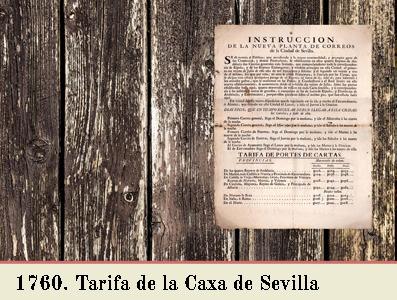 TARIFA DE 1760 EN EL OFICIO DE CORREO DE SEVILLA