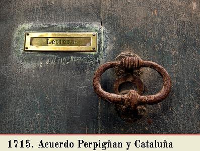 ACUERDO DE 5 DE MARZO 1715 PARA EL INTERCAMBIO POSTAL ENTRE PERPIÑÁN Y CATALUÑA